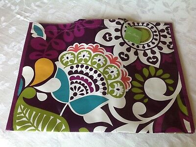 VERA BRADLEY Market Tote - Plum Crazy - NWT! and it's Reuseable!