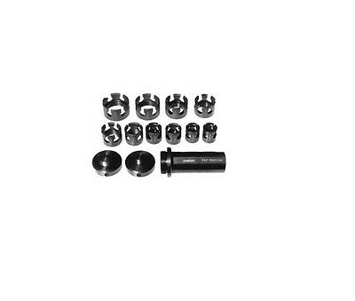 """Lathe CNC Bar Puller Kit 11 Grippers (1/4"""" to 1 1/2 in 1/8"""" increments) plus 5/8"""