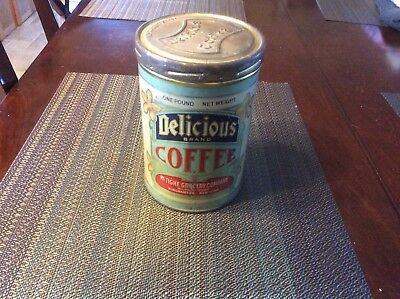 Antique Delicious Coffee Tin Can - Mc.Tighe Grocery - Country / General Store