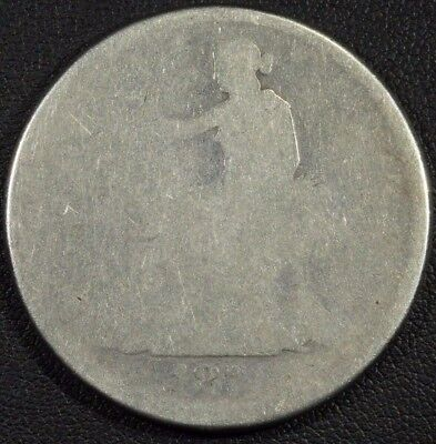 1874 Trade Silver Dollar - Heavily Worn - Lowball