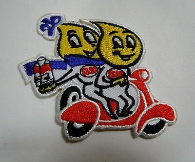 """ESSO-Oil Drops on Scooter Embroidered Iron On Uniform-Jacket Patch 2.5"""""""