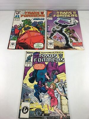 Transformers 3 Comic Book Lot Marvel Comics 1987 issues 29 30 31 no reserve