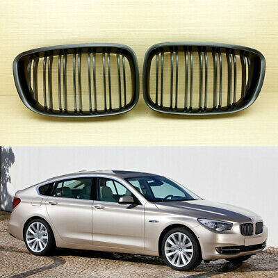 2010-2017 For BMW F07 5-Series M Look Matte Black GT GRAN TURISM Front Grille