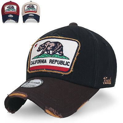 cd76879210b ililily Illustration Patch Distressed Cotton Baseball Cap Vintage Trucker  Hat