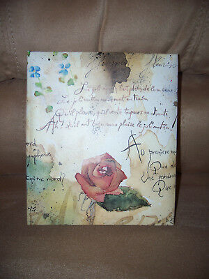 """Address Book """"Flowers & Poems"""" Ring Binder Space for 750 Names"""