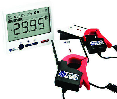 Solar Wireless Energy Monitor with Remote LCD Unit