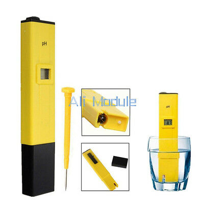 Digital Pocket PH Meter Water Tester Pen LCD Monitor Pool Aquarium Laboratory uk