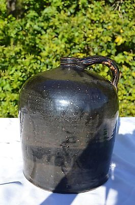 Antique Beehive Glazed Stoneware ?NC Pottery? Syrup or Whiskey Jug 12 x 10 x 10