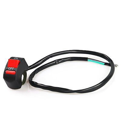 Motorcycle LED Light Switch Handlebar Mount Switch With ON OFF Button Connector