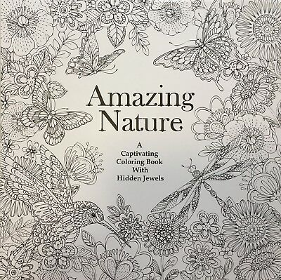Stress Relief & Relaxation Amazing Nature Colouring Book for Adult - 50 designs