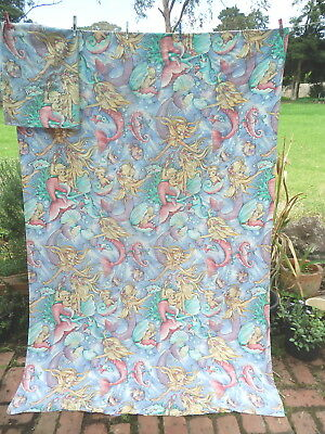 MERMAIDS  by  SHIRLEY BARBER   Doona Cover &  PILLOW CASE   RETRO VINTAGE FABRIC