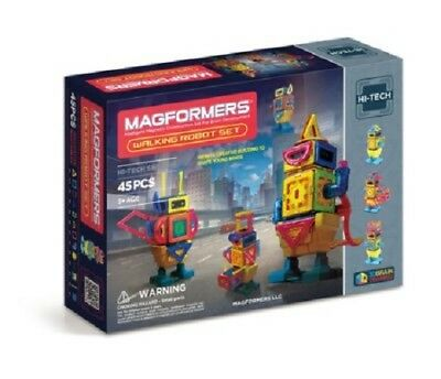 Magformers Walking Robot Set, 45 Pieces New Factory Sealed - Free Shipping