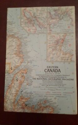 National Geographic Mag -supplement map - eastern canada   - free post