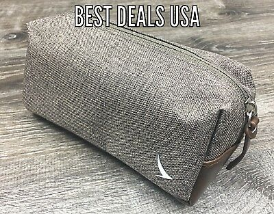 CATHAY PACIFIC Business Class Airline AMENITY KIT BROWN Leather INCOMPLETE