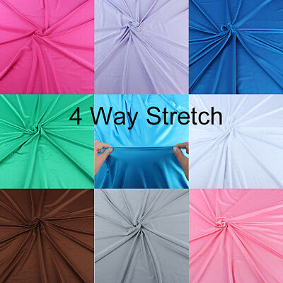 "4 Way Stretch Shiny Milliskin Lycra Fabric Super elastic Spandex 58"" wide yard"