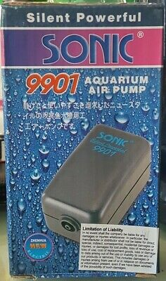 SONiC SiLENT & POWERFUL Air Pump for Small Aquariums up to 20 Gallons!! USA FAST