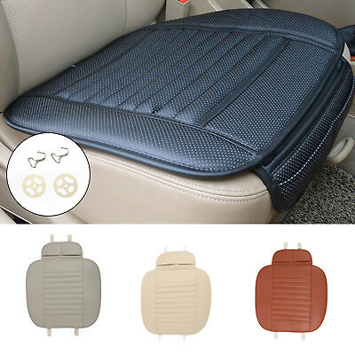 Universal Car Seat Cushion PU Leather Auto Protect Pad Charcoal Seat Cover UK