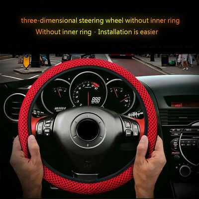 LC_ Universal Car Breathable Anti-Slip Steering Wheel Cover Guard Protector Ca