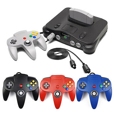N64 Controller + 6FT Extension Cable Gamepad for Nintendo 64 Video Game Console