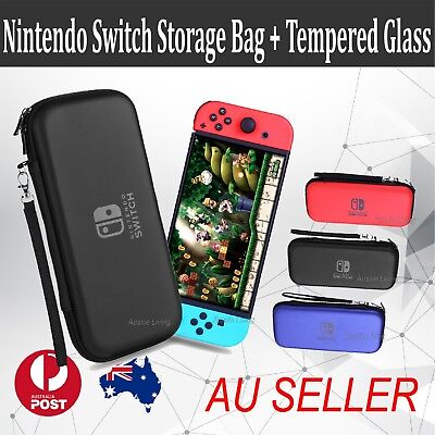 Nintendo Switch Shell Carrying Case Storage Bag Cover Case / Tempered Glass