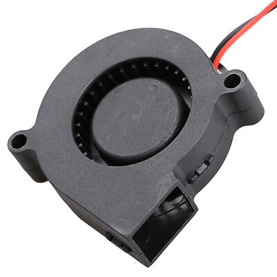 Black Brushless DC Cooling Blower Fan 2 Wires 5015S 12V 0.12A A 50x15 mm Pop RD