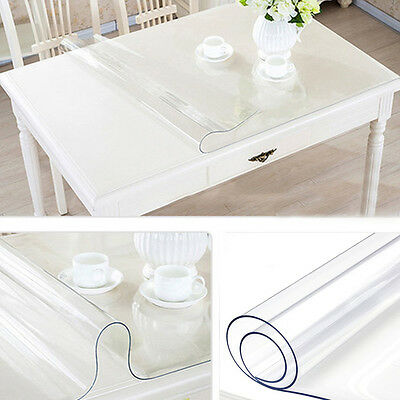 1.5mm Transparent Wipe Tablecloth Clean Mat Waterproof Table Protection Cover
