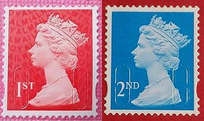 50, 100, 200, 250, 500 1St 2Nd Class Unfranked Stamps Off Paper No Gum