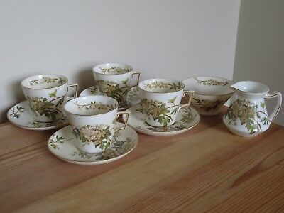Antique George Jones Crescent China Charm 9074 Part Coffee Set Cups Saucers