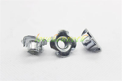 4-Prong T Nuts Zinc Plated Blind Barrel Captive Nut Knock In Wood M8 M10 M12