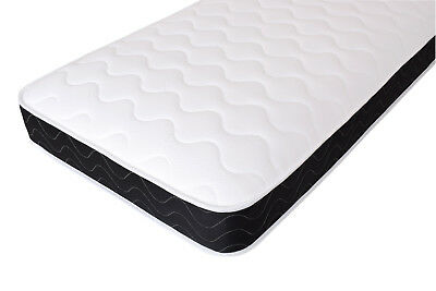 Quilted Cool Blue Memory Foam Spring Mattress. Shorty, 2ft6, 3ft, 4ft, 4ft6