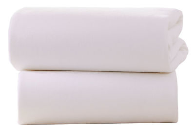 Cot Bed 100% super soft Cotton Jersey Fitted Sheets Pack Of 2 White 70 x 140 cm