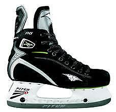 NEW Mission Fuel 80 AG Black Green Hockey Ice Skate Size 9 | US 11 | Euro 43.5