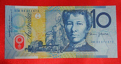 Australia Ten Dollars 1993 Banknote - Blue Shading And Wet Ink Trasfer - Scarce