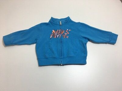 Boys 3-6m Nike Blue & Orange Logo Zip Up Jacket - Excellent Condition