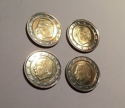 2 Euro Belgique / Belgien 1999 2000 2001 2002  - Lot - Splendides -