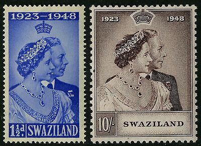 Swaziland   1948   Scott #48-49    Mint Lightly Hinged Set