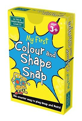 My First Colour and Shape Snap + Pairs Card Game - Maths Learning Resource