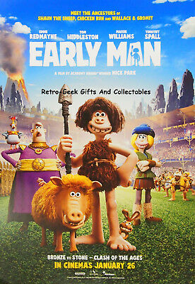 Aardman Animation Early Man A3 Kids Two Sided Cinema Poster With Activities