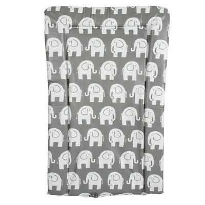My Babiie Padded Baby Changing Mat - Grey Elephant