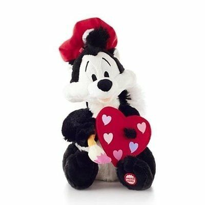 Hallmark Artiste of Love Looney Tunes Pepe Le Pew Techno Plush - #VTD1404 Soft