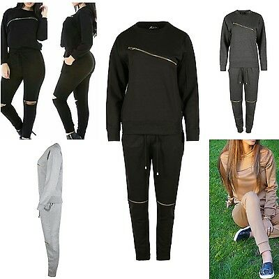 New Womens Cosy Fleece Loungeware Tracksuit Set Ladies Sweatshirt Bottom UK 8-14