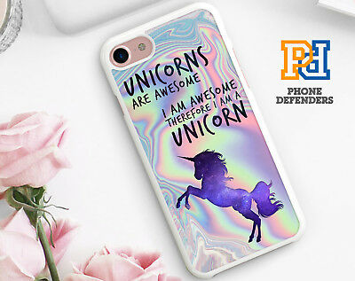 UNICORN PASTEL METALLIC Printed Style Phone Case Cover For iPhone Samsung 01