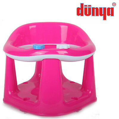 Pink Baby Toddler Kids Bath Chair Infant Eat Bathing Food Support Play Seat New