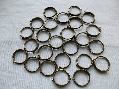 25 Vintage Brass Curtain Rings