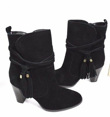 f8517db6b290c8 New Tommy Hilfiger Women s Suede Tassels Ankle Heels Booties Boots size 7.5