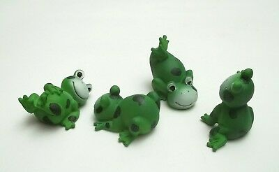 lot de 4 figurines grenouilles, bibelots,animal collection,frog  Gtp14-03