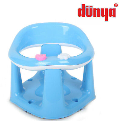 Blue Baby Toddler Kids Bath Chair Infant Eat Bathing Food Support Play Seat New