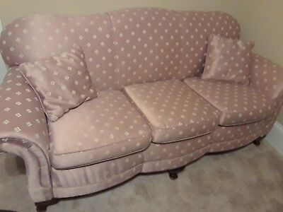 vintage pink sofa from 1920
