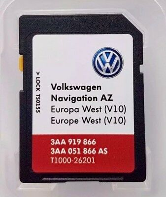 VW RNS 315 V10 SD CARD Navigation - MAP WEST EUROPE 2018