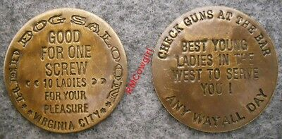 Red Dog Saloon Whore House Brothel Token Whiskey